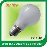 Economia de energia A19 frost E27 lâmpada de halogéneo