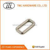 Curvatura do anel da correia do quadrado da liga do zinco do metal para a bolsa ajustável