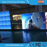 Tela do diodo emissor de luz da cor cheia P3 do RGB para a instalação fixa interna