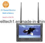 Construido en DVR y 32 canales de doble receptor de 7 pulgadas de cámara de monitor