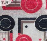 Tela colorida 100% del telar jacquar del Chenille del círculo del poliester