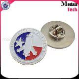 Die Struck Iron Custom Metal Wholesale Lapel Pins com embreagem de borboleta