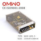 Qualité fiable Wxe-60s-5 12A 60W 5V Alimentation par commutation