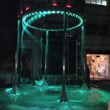 Fonte de água redonda de aço inoxidável fonte de cortina de água