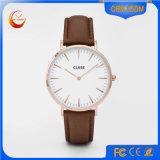 Relógio de senhoras dos homens do aço inoxidável de quartzo do relógio de pulso do esporte da forma (DC-1246)