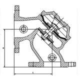 100A角度のフロート制御弁