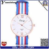 Do esporte de nylon Top-Quality dos relógios de pulso do movimento de Ronda da cinta da OTAN do relógio de Yxl-485 Pormotional relógio ocasional dos homens das senhoras
