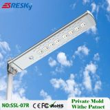 La mejor luz de calle solar del precio 12V 30W LED con el certificado ISO9001