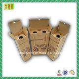 Boîte carrée de luxe à vin de papier ondulé