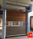 Porte en aluminium spiralée à grande vitesse d'obturateur de rouleau de bloqué isolé