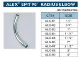 EMT 90 Radius Elbow Steel