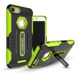 Чернь TPU+PC/вспомогательное оборудование сотового телефона на iPhone 7 добавочное
