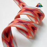 Gestreifter Farben-Großhandelsjacquardwebstuhl gesponnenes Polyester-Farbband