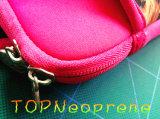Sacchetto del computer portatile del manicotto del neoprene del reticolo del grano del leopardo con la maniglia