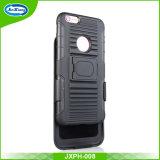 アメリカ市場の熱い販売の携帯電話の袋及び箱TPUのパソコンiPhone 6のケース6sの裏表紙のためのハイブリッドベルトクリップ携帯電話のKickstandのケース