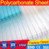 Hoja helada del material para techos de la depresión del policarbonato de la Gemelo-Pared con la protección ULTRAVIOLETA