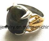 赤い方法石金によってめっきされるボディ宝石類の鋳造リング