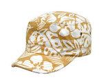 Casquillo militar, casquillo lavado algodón, casquillo de la manera, casquillo del ocio, sombrero militar