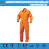赤く純粋な綿の反静的な産業ユニフォームのつなぎ服