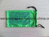 녹색 100%Polyester Microfiber 색안경 주머니