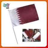 Флаг волны руки полиэфира изготовленный на заказ малый (HYHF-AF076)