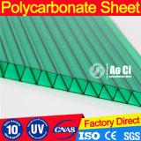 Feuille en plastique de serre feuille en polycarbonate creuse 4mm / 6mm / 8mm / 10mm / 12mm pour 10 ans de garantie