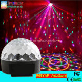 La fase magica di cristallo poco costosa della discoteca della sfera di Rgbywp il LED LED illumina il controllo di base del suono della fase