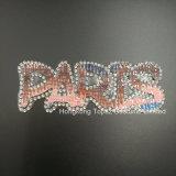 Утюг мотивов Rhinestones Париж Hotfix кристаллический на Applique Strass заплат кристаллический для одежды (TS-Париж)