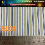 Tela teñida pronto de la raya de los hilados de polyester de las mercancías para la ropa (S006.108)
