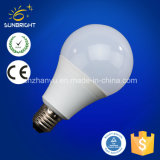 ampoule en aluminium en plastique de 3-15W A60 A70 DEL