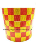 PVC giallo e sicurezza rossa del quadro che avverte nastro riflettente (C3500-G)
