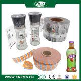 Étiquette colorée de chemise de rétrécissement de chaleur de PVC d'impression pour la bouteille en plastique