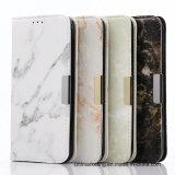 Caja de cuero de mármol del teléfono celular de la carpeta para el borde HTC LG de Samsung S8/S8plus/S7/S7 toda la serie