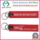 Vor Schlüsselkette der Flug-Stickerei-entfernen Keychain/
