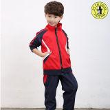 Treinador de poliéster para crianças da escola, terno de pista, terno esportivo