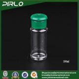 100g 3.3oz는 녹색 플라스틱 손가락으로 튀김 상단 모자를 가진 플라스틱 향미료 병을 지운다
