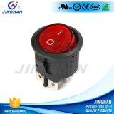 Botón de interruptor negro al por mayor de eje de balancín de la CA 250V de Kcd1-226/4p