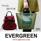 Каталог мешков! Выставочный зал тепло радушного посещения вечнозеленый кожаный большой: ) Добавьте ваш логос на низком MOQ