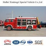 접히는 붐 기중기를 가진 Dongfeng 구조 진화 트럭
