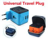 Universalität alle in einer weltweiten Arbeitsweg-Netzstecker-Wand Wechselstrom-Adapter-Aufladeeinheit mit Doppel-USB-aufladenkanälen für Us/EU/UK/Au