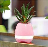 Fleur réelle intelligente de contact de Flowerpot d'éclairage LED de jeu de contact d'usine de la musique 2017 de fleur de bac de haut-parleur sec magique neuf de Bluetooth à chanter