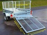 7X4 de gegalvaniseerde Aanhangwagen van de Doos met de Helling van het Aluminium