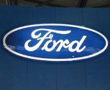 Emblème acrylique de véhicule allumé par DEL de mur fait sur commande