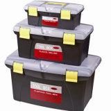 Caja de herramientas plástica portátil negra