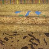 Tissu en cuir synthétique d'unité centrale de liège réel pour la décoration (HS-BC08)