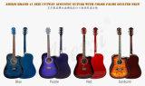 Aiersi guitarra acústica acolchada 41 pulgadas Sg028ca del color de la tapa de la piel