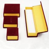Boîte à cadeau en papier en similicuir en velours velours Ice Velvet (J46-E)