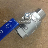 Nylon INSERT LOCK groove 2 Pieces floating ball valve