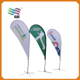 4.5m Pole Custom Teardrop Beach Drapeaux Publicité Banner Am456