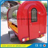 ガラス繊維のトレーラーのスクーターの食糧カートの商業ホットドッグのカート